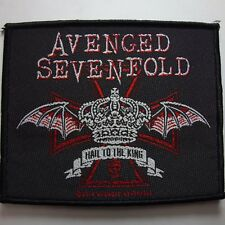 AVENGED SEVENFOLD  HAIL TO THE KING RED AND WHITE LOGO OFFICIAL WOVEN  PATCH
