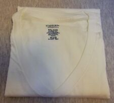 Stafford Essentials V-Neck 1 (ONE)!!! T-shirt White Size XXL