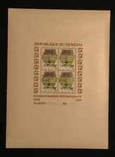 Senegal , paintings of  Friedensreich Hundertwasser  Block 34-36 year 1979 MNH