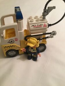 Lego Duplo 7842 Jet Fuel Truck 100% complete without box