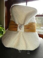Vintage Cashmere Ladies Bucket Hat Made in Italy