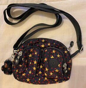 KIPLING Kalipe Extra Small Crossbody Shoulder Bag Star Print + Monkey Keyring