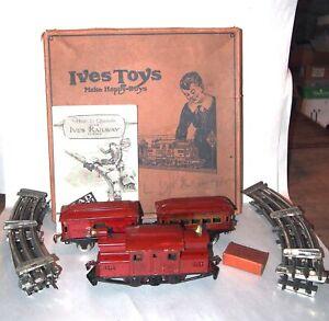 IVES Prewar O Gauge Fantastic 501 Passenger Set! 3250 Locomotive! BOX! PA