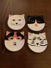 New listing Bandwagon 2001 Ceramic Set Of 4 Cat Coasters 4�
