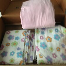 Box of 3 piece Twin Flannel Sheet Set, and 3 towels - All used and washed .