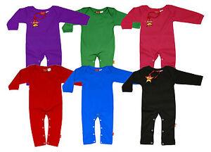 Premium Baby Long Leg Sleeve Blank Plain Colour Playsuit Sleepsuit 100% Cotton
