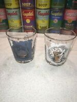(2) Vintage Libbey Mid Century Apothecary Rx Cocktail Highball Glasses Barware