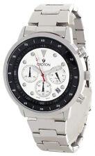 Croton Chronomaster Mens Silver & Black Dial Steel Bracelet Watch CC311304