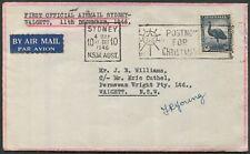 Australian Aerophilately - 11 Dec.1946 (AAMC.1086a) Sydney - Walgett flown cover