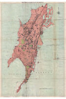 Bombay, India; 1895 Times of India Map; Lovely 1st Quality Antique Reproduction