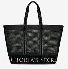 Victoria's Secret Mesh Weekender Tote Bag Zippered XL Limited Edition 2017