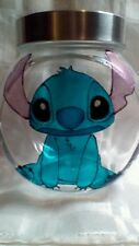 Hand Painted Stitch Lilo and Stitch Stained Glass Look Storage Sweet Cookie Jar