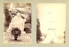 France, Calvaire de St. Julien, Molin Molette  Vintage albumen print. 2 photos 8