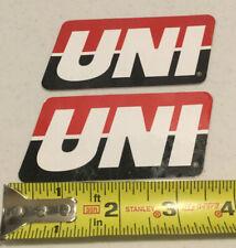 Uni Racing Filters Racing Decal Sticker Emblem Off-Road Mx Atv Enduro Set Of 2