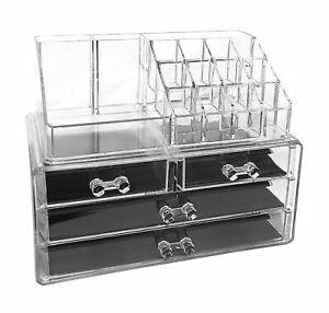 Acryl Make Up Schminke Schmuck Aufbewahrung Schminktisch Aufsatz Organizer Box