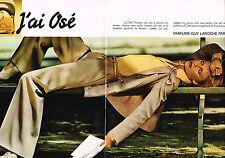 PUBLICITE  1977   GUY LAROCHE  parfum J'AI OSE  ( 2 pages)