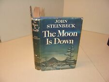 1942 THE MOON IS DOWN Book by John Steinbeck 1st First Edition 2nd Printing RARE