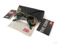 New Mens Sunglasses Ray-Ban RB3025 55mm Aviator Silver