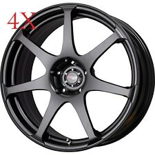 Drag Wheels DR-48 17X9 5/114 +17 Flat Black Rims For DSM Stealth 3000gt Eclipse