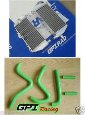 R&LH radiator +hose kawasaki KX250 KX125 KX 250 125 94-02 95 96 97 98 99 00 01