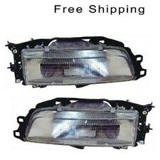 Halogen Head Lamp Assembly Set of 2 LH & RH Side Fits Toyota Camry 1987-1991