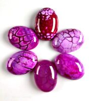 6pcs 25x18x6mm Beautiful Oval Rose Red Dragon Veins Agate CAB CABOCHON FF-cabl6