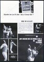 1965 Judy Garland Liza Minnelli photo London Palladium album vintage print ad