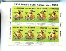 1980 Pluto 50Th Anniversary Scott 950 Maldives $2 8 Stamp Sheet Mnh