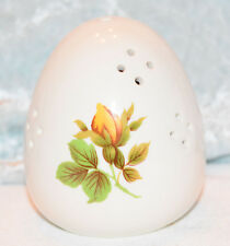 Yellow Rose Egg shaped Porcelain Pomander Aromatherapy  Potpourri holder