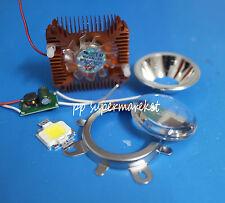 10W warm White High Power LED+10Watt Driver+90degre 50mm Lens+10w Heatsink kit