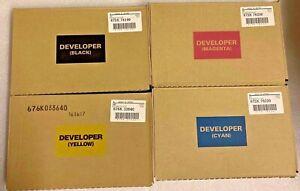 Xerox DC 700 700i 770 550 560 570 4 color Developer kit CMYK Genuine OEM Sealed