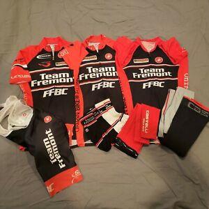 Castelli Womens cycling Team Fremont racing kit jersey bib short sock 7 item LOT