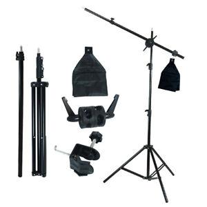 """Photography Studio 2 Way Adjustable Boom Stand and Sandbag Combo w/ 55"""" Arm Bar"""