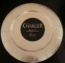 """Silver Spoons 13"""" Gold Round Charger Round Plates, Set of 20"""