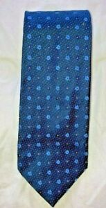 """BRIONI 100% SILK BLUE FLORAL DESIGN 3.5"""" TIE MADE IN ITALY 59"""" LONG"""