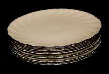 "Lenox Weatherly Salad Plates Set of 6 Ivory Swirl Platunum Trim 8"""