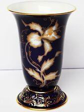 Porzellan Vase Blumenvase Heinrich Baensch Lettin kobaltblau Lilie 1930er H 22cm