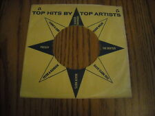 45 RECORD COMPANY SLEEVE.   TOP HITS, BEATLES, PRESLEY. ETC.
