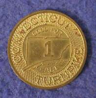 Hartford /& Springfield St Ry Warehouse Point, Connecticut transit token CT550A