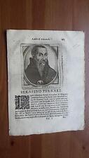 1664 Calvi Scrittori Bergamaschi: Ritratto Serafino Ferrari cittadino di Bergamo