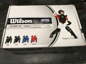 Wilson EZ Gear Kit Youth L/XL  Helmet,Chest protector, Leg Guard Wta368400lx*NEW