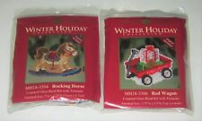 LOT of 2 MILL HILL WINTER HOLIDAY XStitch & Beaded Christmas Magnet KITS 2013