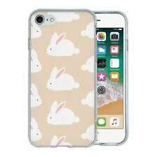 For Apple iPhone 7 Silicone Case Bunny Rabbit Pattern - S67