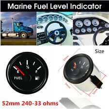 52MM Auto Black Fuel Level Gauge 240-33ohm(E-F) 12-24V For Car Truck Boat Marine