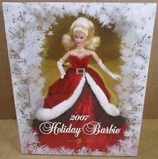"""2007 Holidays Celebration Barbie Doll """"Miss Santa Claus� Frosty Window Snowflake"""