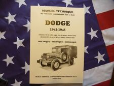 Cote achat vente 2018 Dodge 4x4 6x6 Manuel technique Hubert ARBOUX Military USA