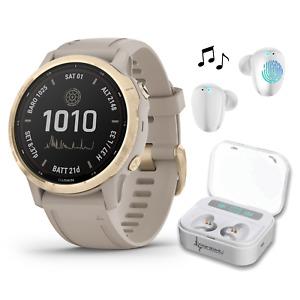 Garmin Fenix 6S Pro Solar Premium Multisport GPS Smartwatch with Earbuds
