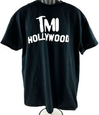 TMI Hollywood T Shirt Mens XL Navy Blue Comedy Sketch TV Show Great Condition