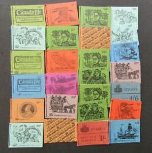 GREAT BRITAIN - FINE COLLECTION OF 27 x BETTER BOOKLETS FROM LATE 1960s/1973