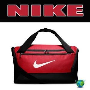 Nike Brasilia Small Duffel Bag BA5957 657 Red/White/Black Gym Bag Training